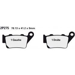 Rear brake pads Nissin KTM 450 Rally 2011 -  type NS