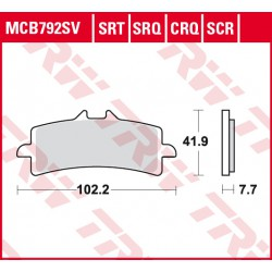 Front brake pads TRW / Lucas MV Agusta  1090 Brutale RR ABS 2014 -  type CRQ