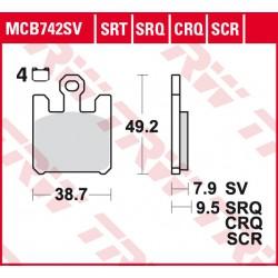 Front brake pads TRW / Lucas Derbi  659 Mulhacen 2005 -  type CRQ