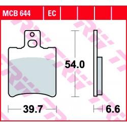 Front brake pads TRW / Lucas PGO  50 Rodoshow 2001 -  type EC