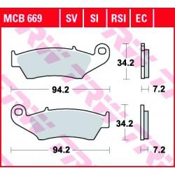 Front brake pads TRW / Lucas Beta RR 450  2012 -  type RSI