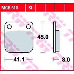 Front brake pads TRW / Lucas Hyosung TE 400  2005 - 2006 type SI
