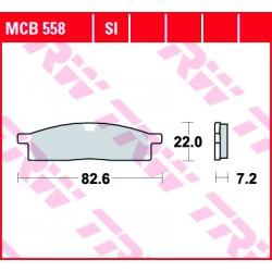 Front brake pads TRW / Lucas Yamaha YZ 85 SW 2002 - 2003 type SI