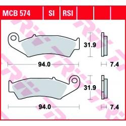 Front brake pads TRW / Lucas Husaberg  350  1989 - 1993 type SI