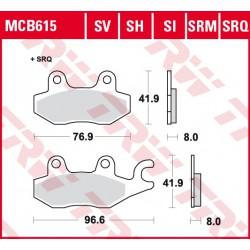 Front brake pads TRW / Lucas CF Moto  550 Z-Force, EX 2015 -  type SI