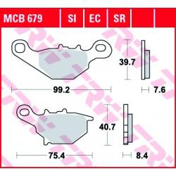 Front brake pads TRW / Lucas Suzuki RM 85  2002 - 2004 type SI