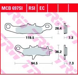 Front brake pads TRW / Lucas Kawasaki KX 85  2001 -  type SI