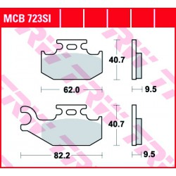 Front brake pads TRW / Lucas Bombardier  500 Quest 2002 -  type SI