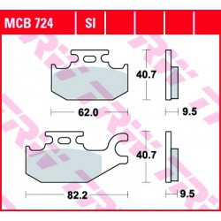 Front brake pads TRW / Lucas Bombardier  800 Outlander 2006 -  type SI