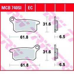 Front brake pads TRW / Lucas Husqvarna CR 65  2012 -  type SI