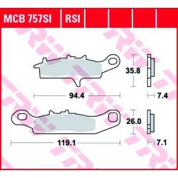 Front brake pads TRW / Lucas Suzuki  700 Quadrunner 2004 - 2008 type SI
