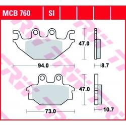 Front brake pads TRW / Lucas Kymco UXV 500  2008 - 2015 type SI