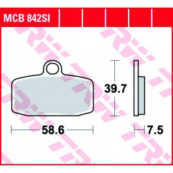 Front brake pads TRW / Lucas Sherco ST 305  2013 - 2014 type SI