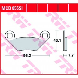 Front brake pads TRW / Lucas Polaris  850 Forest 2015 -  type SI