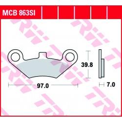 Front brake pads TRW / Lucas CF Moto CF 625 Terralander 2011 -  type SI