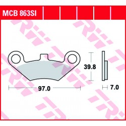 Front brake pads TRW / Lucas CF Moto CF 800 Terralander 2012 -  type SI