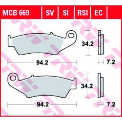 Front brake pads TRW / Lucas Beta RR 525  2005 - 2009 type SI