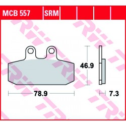 Front brake pads TRW / Lucas Aprilia  300 Leonardo 2004 - 2006 type SRM
