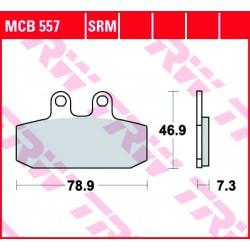 Front brake pads TRW / Lucas Aprilia  400 Scarabeo i.e. 2006 - 2009 type SRM