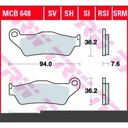 Front brake pads TRW / Lucas Gilera  500 Nexus 2004 -  type SRM