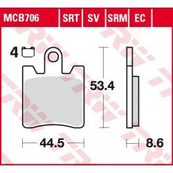 Front brake pads TRW / Lucas SYM GTS 250 Joymax Sport 2016 - 2017 type SRM