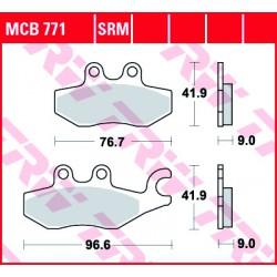 Front brake pads TRW / Lucas Piaggio X10 350 Executive 2012 - 2016 type SRM