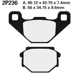 Rear brake pads Nissin Kawasaki KMX 200 A2, A3, A4 1988 - 1990 type ST