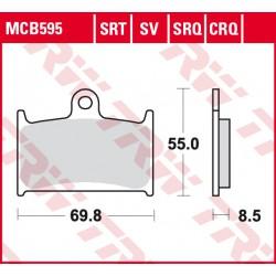 Front brake pads TRW / Lucas MUZ MZ 1000 SF, SFs 2005 -  type SRQ