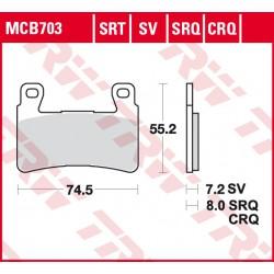 Front brake pads TRW / Lucas Honda CBR 954 RR Fireblade 2002 - 2003 type SRQ