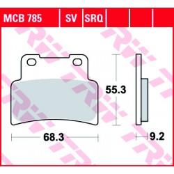 Front brake pads TRW / Lucas Aprilia SMV 900 Dorsoduro ABS 2017 -  type SRQ