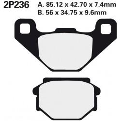 Rear brake pads Nissin KTM MX 300 1990 type ST