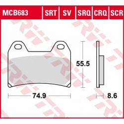 Front brake pads TRW / Lucas Ducati  696 Monster 2008 -  type SRQ