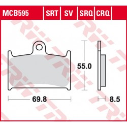 Front brake pads TRW / Lucas MUZ MZ 1000 S 2003 -  type SRT