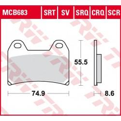 Front brake pads TRW / Lucas Victory  1634 Hammer, Hammer S 2005 - 2007 type SRT
