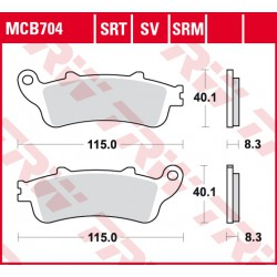 Front brake pads TRW / Lucas Victory  1731 Cross Roads Classic, ABS 2010 -  type SRT