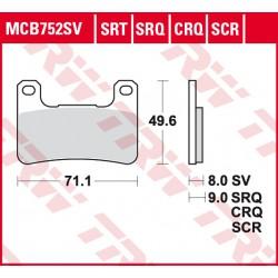 Front brake pads TRW / Lucas Suzuki VZR 1800 M 1800 R Intruder 2006 - 2017 type SRT
