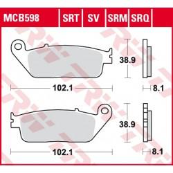 Front brake pads TRW / Lucas Triumph  865 Bonneville Newchurch 2015 -  type SRT