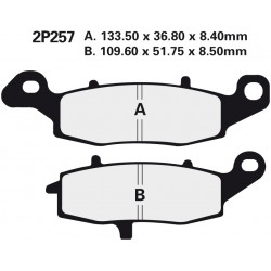 Front brake pads Nissin Kawasaki ER-6n 650 Right 2009 - 2011 type NS