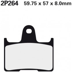 Rear brake pads Nissin Harley-Davidson XL 1200 X Forty-Eight 2014 -  type ST