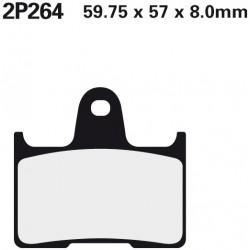 Rear brake pads Nissin Kawasaki ZZR 1400 (Rad.cal) 2006 -  type ST