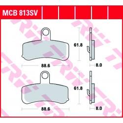 Front brake pads TRW / Lucas Harley-Davidson FLSTSE 1800 CVO Softail Convertible 2010 - 2012 type SV