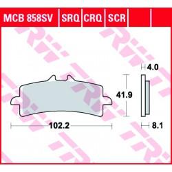 Front brake pads TRW / Lucas Bimota 3D 800 Tesi 2016 -  type SV