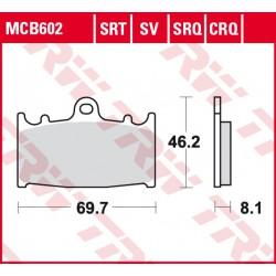 Front brake pads TRW / Lucas Kawasaki VN 2000  2004 - 2008 type SV