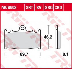 Front brake pads TRW / Lucas Kawasaki VN 2000 Classic 2008 - 2010 type SV