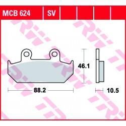 Front brake pads TRW / Lucas Cagiva  900 Elefant I.E. 1990 - 1992 type SV