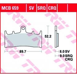 Front brake pads TRW / Lucas Suzuki VZ 1600 M 1600 Marauder 2004 - 2005 type SV
