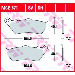 Front brake pads TRW / Lucas Royal Enfield  535 Continental GT 2013 -  type SV