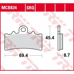 Front brake pads TRW / Lucas BMW C 400 X 2018 -  type SV