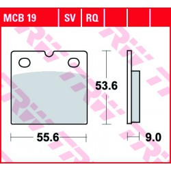 Front brake pads TRW / Lucas MUZ MZ 500 Red Star 1997 -