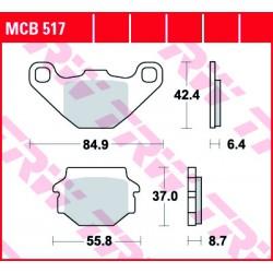 Front brake pads TRW / Lucas Malaguti MGX 425 Ronco 1987 -